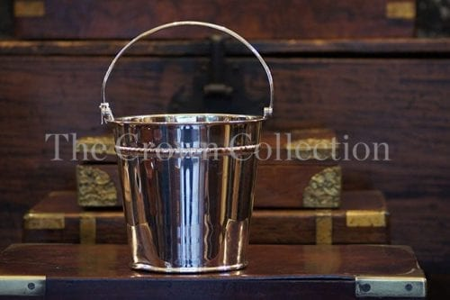 Vintage Silver Plated Ice Bucket With Handle & Drip Tray