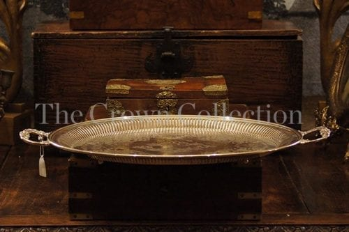 Vintage Large Oval Silver Plated Tray