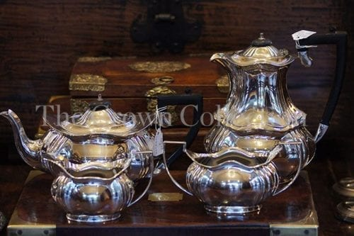 Set Of 4 Vintage Sheffield Cameo Epns Tea Set