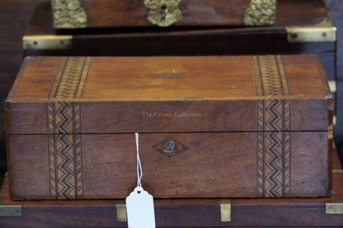 Antique 19Th Century Tunbridge Writing Slope/Box ND