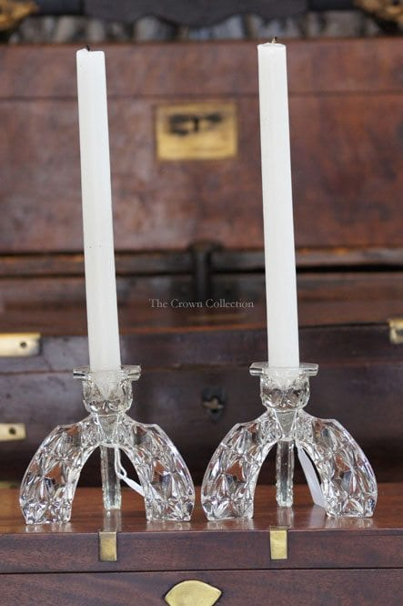 Pair Glass Candlesticks