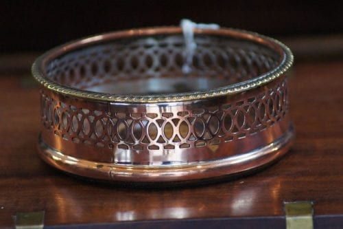 Silver Plate Vintage Wine Coaster