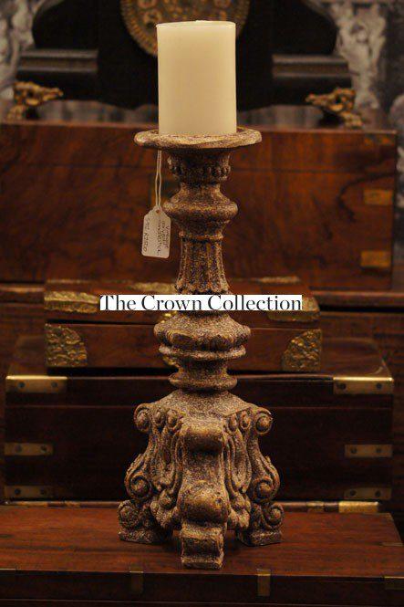 Vintage Carved Candlestick