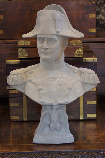 Large Concrete Napoleon Bust In Full Military Regalia
