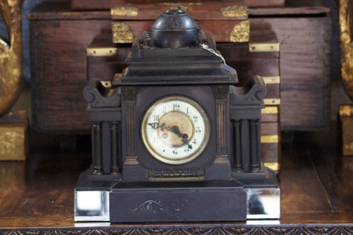 Antique French 1852 Brocot Depose Slate Clock