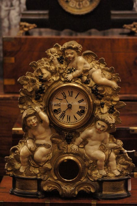 Antique American Clock Company Victorian Cherub Clock (Working)