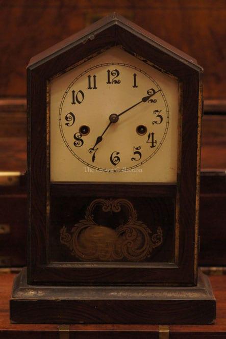 Antique New Haven Gem Striking Chime Clock ND