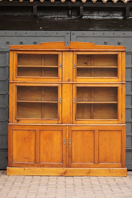 Vintage Oregon Pine Cabinet With Mesh