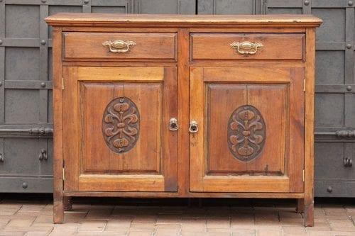 Afrikana Teak Art  Nouveau Cabinet