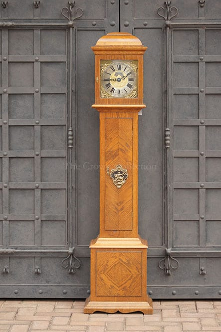 Early 20Th Century Dutch Oak Cased Warmink Grandmother Clock