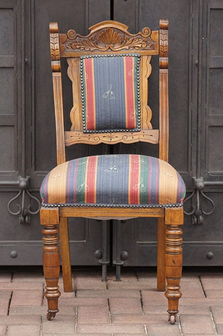 Edwardian Mahogany Chair On Castors