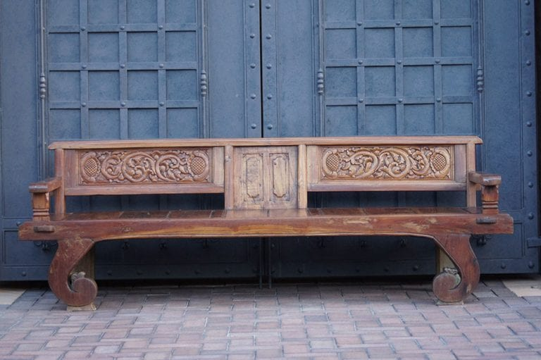 Teak Javanese Bench