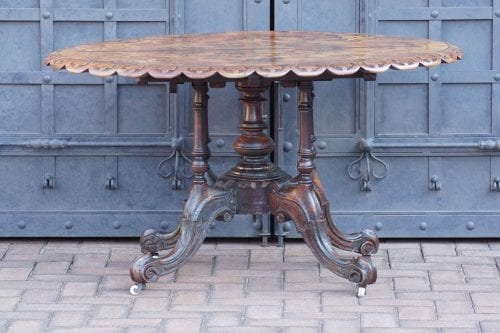 Victorian Burr Walnut Loo Table Circa 1890