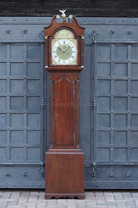 George III Longcase Mahogany Clock by James