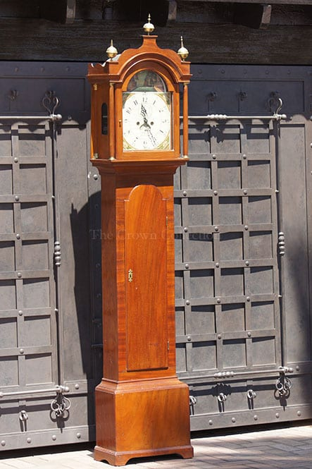 Antique English grandfather long case clock