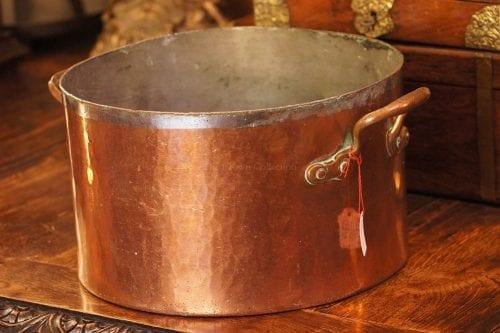Copper 2 Handle Pot