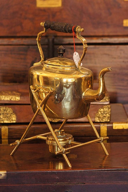 Vintage Brass Teapot With Burner & Stand
