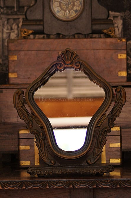 Wooden Vintage Swivel & Tilt Mirror