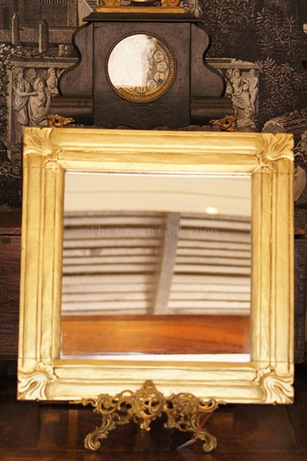 Square Gold Framed Mirror