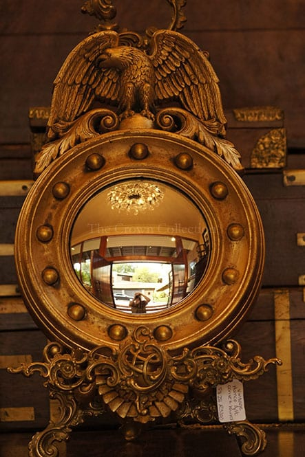 Vintage Homco Gilt Convex Eagle Mirror (Easel Not Included)