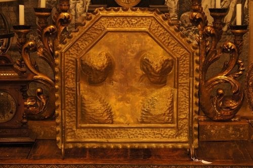 Solid Brass Repousse Screen