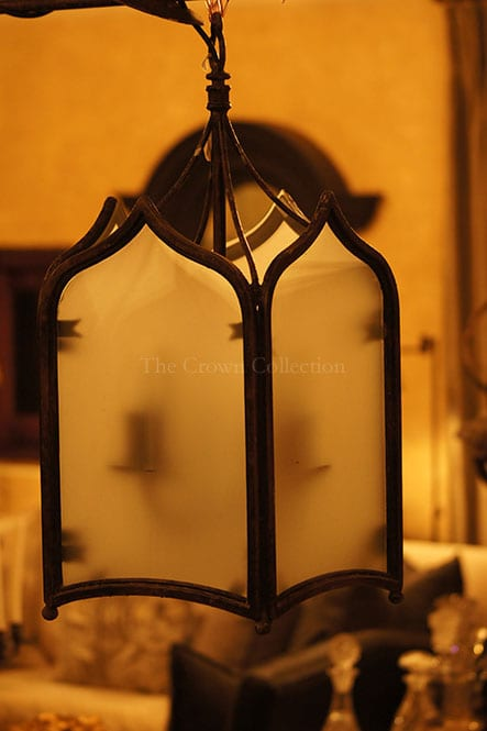 Vintage Heavy Wrought Iron Lantern