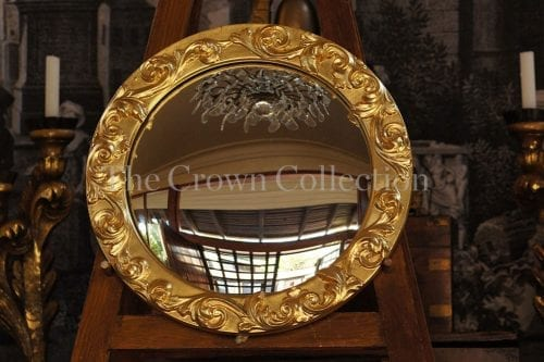 1940s convex mirror re-gilded