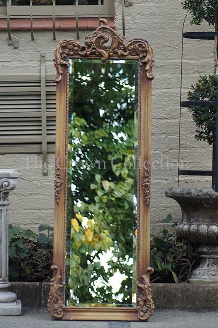 Dark Gold Ornate Gilded Mirror