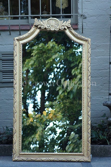 Dark gold gilded mirror