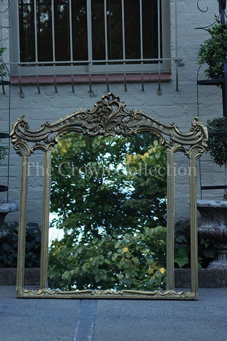 Large Gilded Crafted Mirror