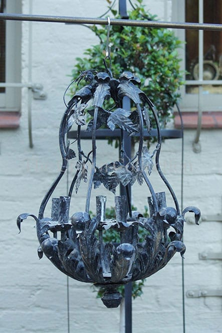 Black/Grey Wrought Iron Chandelier
