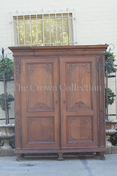 18th-century Normandy Oak Armoire