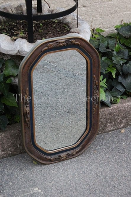 Gilt Black Ornate Framed Mirror The Crown Collection