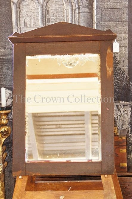 Vintage wood & bevelled mirror