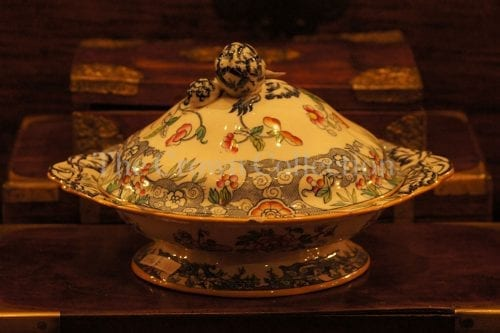 Antique rose tureen