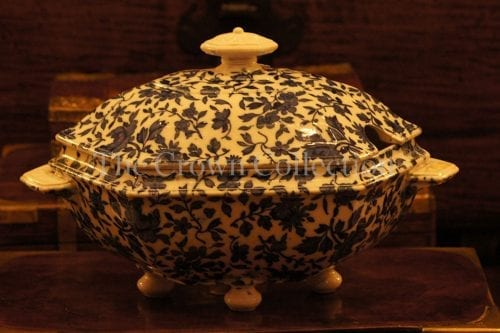 Antique blue and white tureen