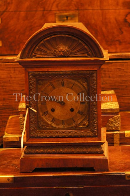 Rare antique oak mantel clock late 1800/early 1900