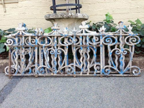 A Set Of 7 Victorian Broekie Lace Iron Panels