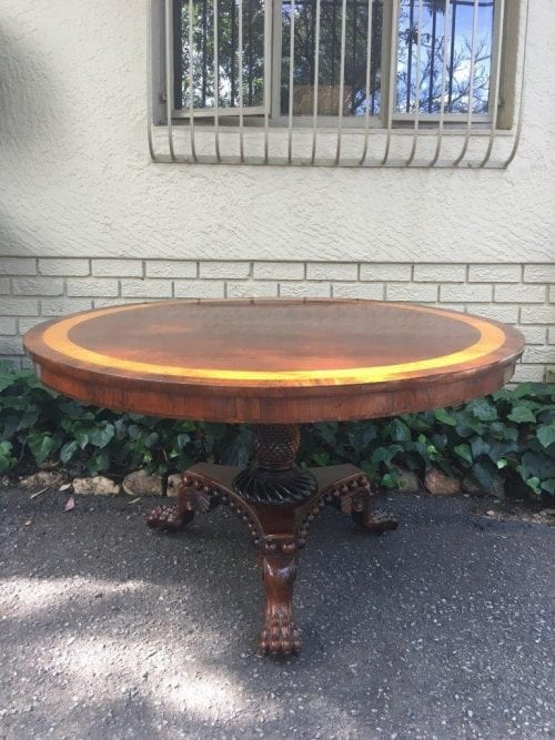Victorian Rosewood & Maple Tilt Top Breakfast Table