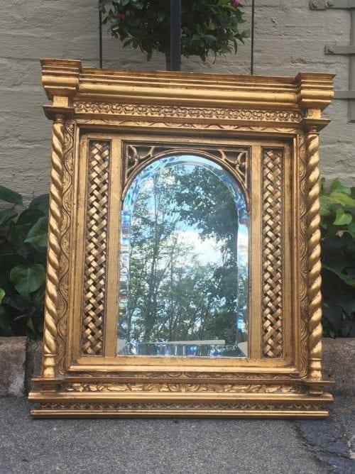 Gil Barley Twist Columns Bevelled Mirror