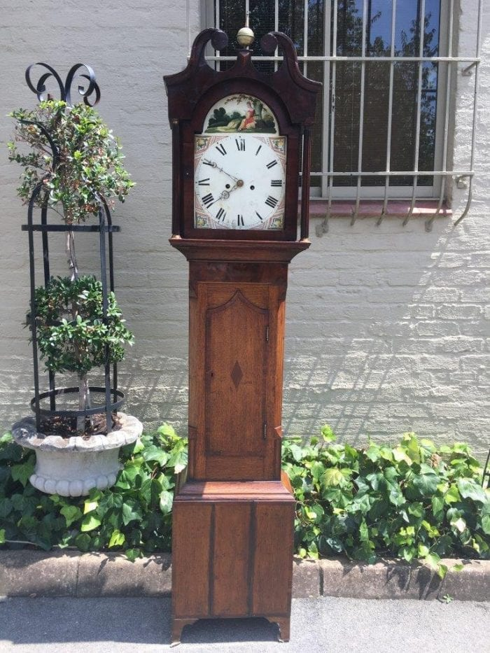 George 111 Oak and Mahogany Longcase Clock
