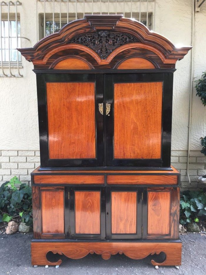 19th Century Colonial Ebonised Coromandeland Beefwood Cabinet