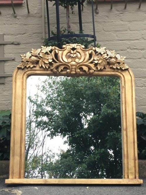 Pair Gilded Mantle Mirrors - ND
