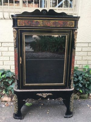 19th Century French Boulle & Ebonised Display Cabinet