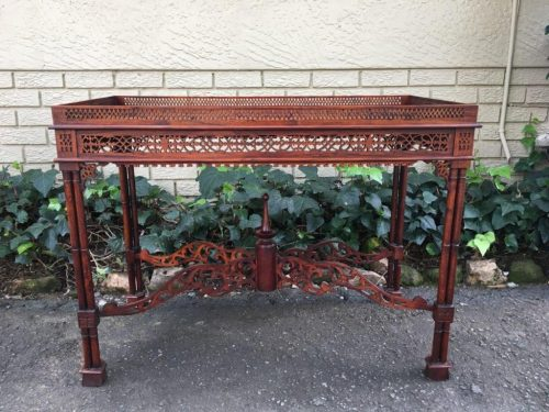 Mahogany Console Table with Galley Top