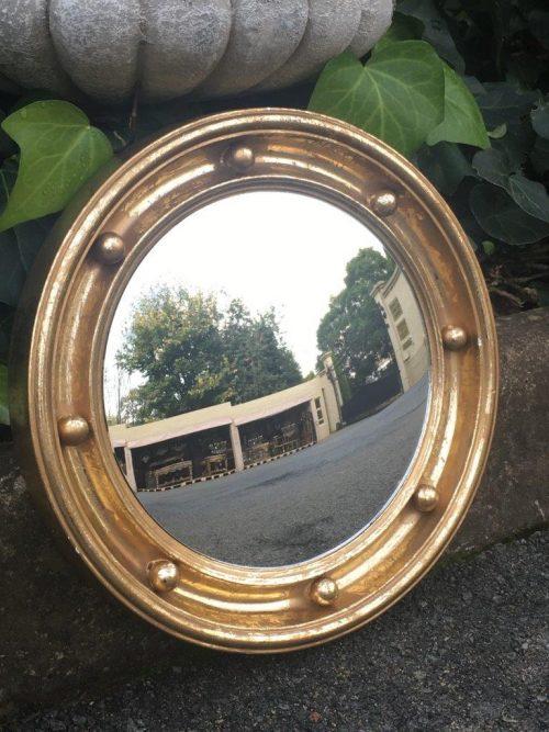 Gilded Convex Mirror