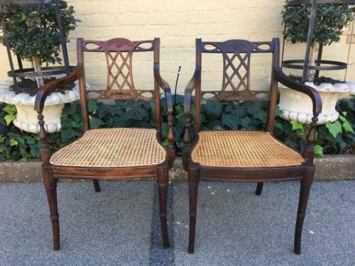 Pair Edwardian Armchairs