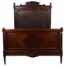 Louis XIV Style Carved Mahogany Three Quarter Bedstead
