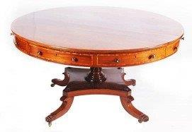 19th Century George IV Mahogany Drum Table