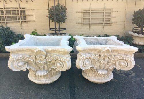 Pair Concrete Planters